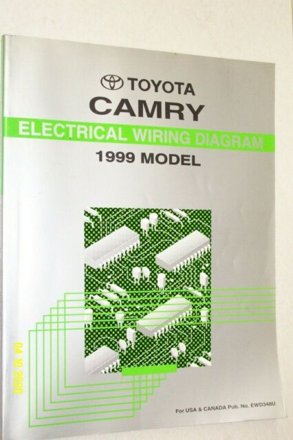 1999 Toyota Camry Electrical Wiring Diagram Shop Manual Ewd