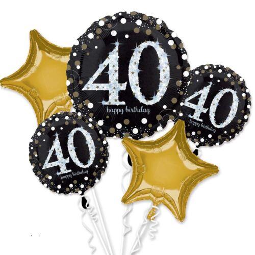 Sparkling 40th Birthday Foil Balloon Bouquet