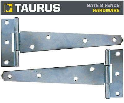 LIGHT DUTY TEE HINGES 4 INCH 100MM EPOXY BLACK 1 X PAIR WITH FIXINGS//SCREWS