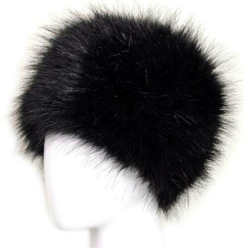 Fashion Winter Women Faux Fur Cap Fluffy Fox Fur Hats Headgear Russian Warm Caps