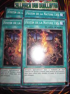 YU-GI-OH-COM-FESTIN-DE-LA-NATURE-LV5-DUEA-FR056-LOT-DE-4-PLAYSET-ED1-NEUVES