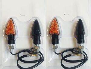 4-FRECCE-NERE-a-LAMPADA-CORTE-OMOLOGATE-UNIVERSALI-per-TUTTE-le-MOTO