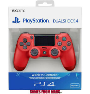 SONY-PS4-DUALSHOCK-4-V2-ROSSO-NUOVO-Controller-Joypad-Wireless-Magma-Red