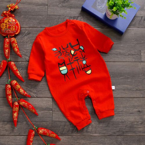 Newborn Baby Boys Girls Chinese Style Romper Bodysuit Jumpsuit Playsuit Clothes