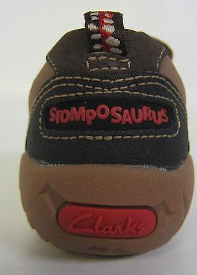 Ausverkauf Clarks 'STOMPOBOY' Jungen braunes Leder Freizeitschuhe F Passform