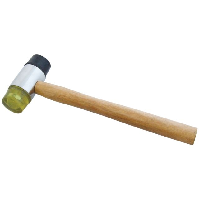45MM PANEL BEATING HAMMER MALLET AUTOBODY WORK GARAGE DOUBLE FACE RUBBER PLASTIC