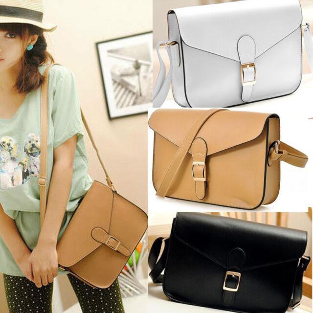 Fashion Womens Girl PU Leather Crossbody Satchel Shoulder Messenger Bag Handbag