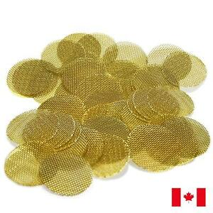 100-Piece-Gold-Brass-3-4-034-0-75-034-Tobacco-Smoking-Pipe-Screens