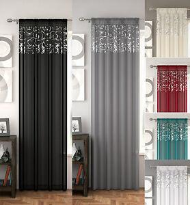 Arran-Voile-Cortina-Panel-Voile-Visillos-ranura-superior-6-grandes-disenos-gran-compre
