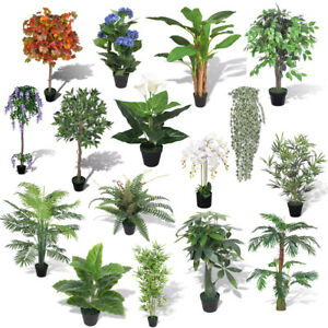 225 & Details about Artificial Plant Tree Flower Pot Ivy Outdoor Fake Large Medium Small Home Decor