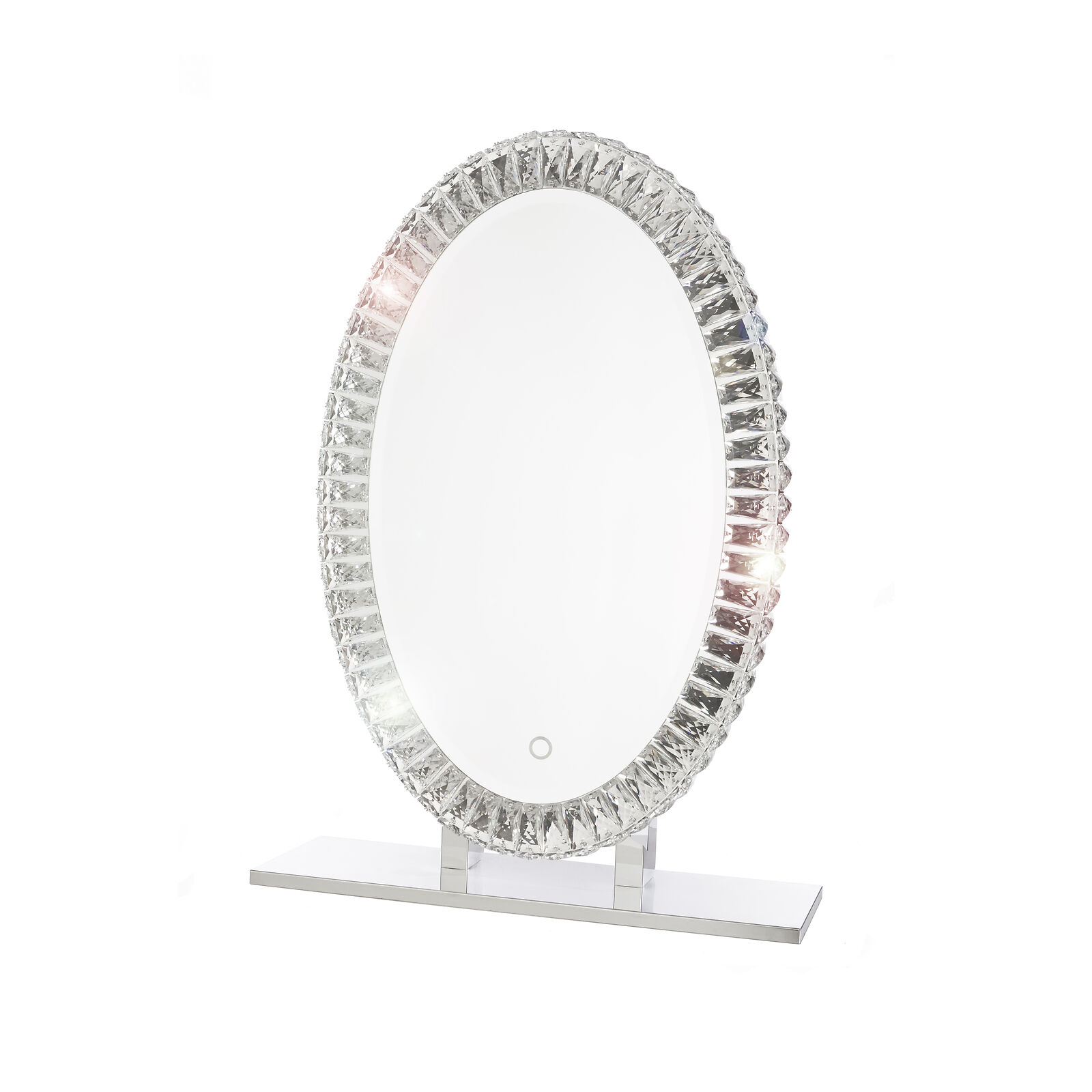 Dyconn Faucet Volta Tri-Farbe Oval LED Bathroom Mirror with Touch ON OFF Dim