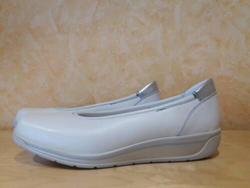 nappa Ballerina Gr New e Ara 40 6 bianca Femminile Confortevole argento H 5 In pelle f56qxwpWU