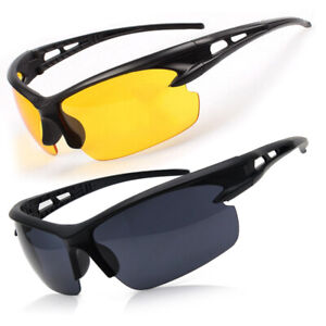 S UV400 HD Night Vision Cycling Riding Driving Glasses Sports Sunglasses Goggles
