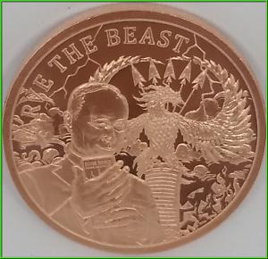 Copper Silver Shield Death of the Dollar #22 PRESALE 2019 1oz Global Ponzi BU