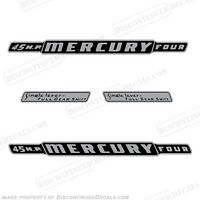 Mercury 1962 45hp Outboard Decal Kit - Discontinued Decal Reproductions In Stock