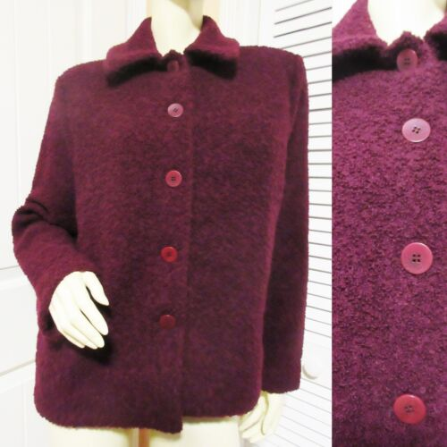 EILEEN FISHER Wool Coat Woolen Sweater Jacket M Wo