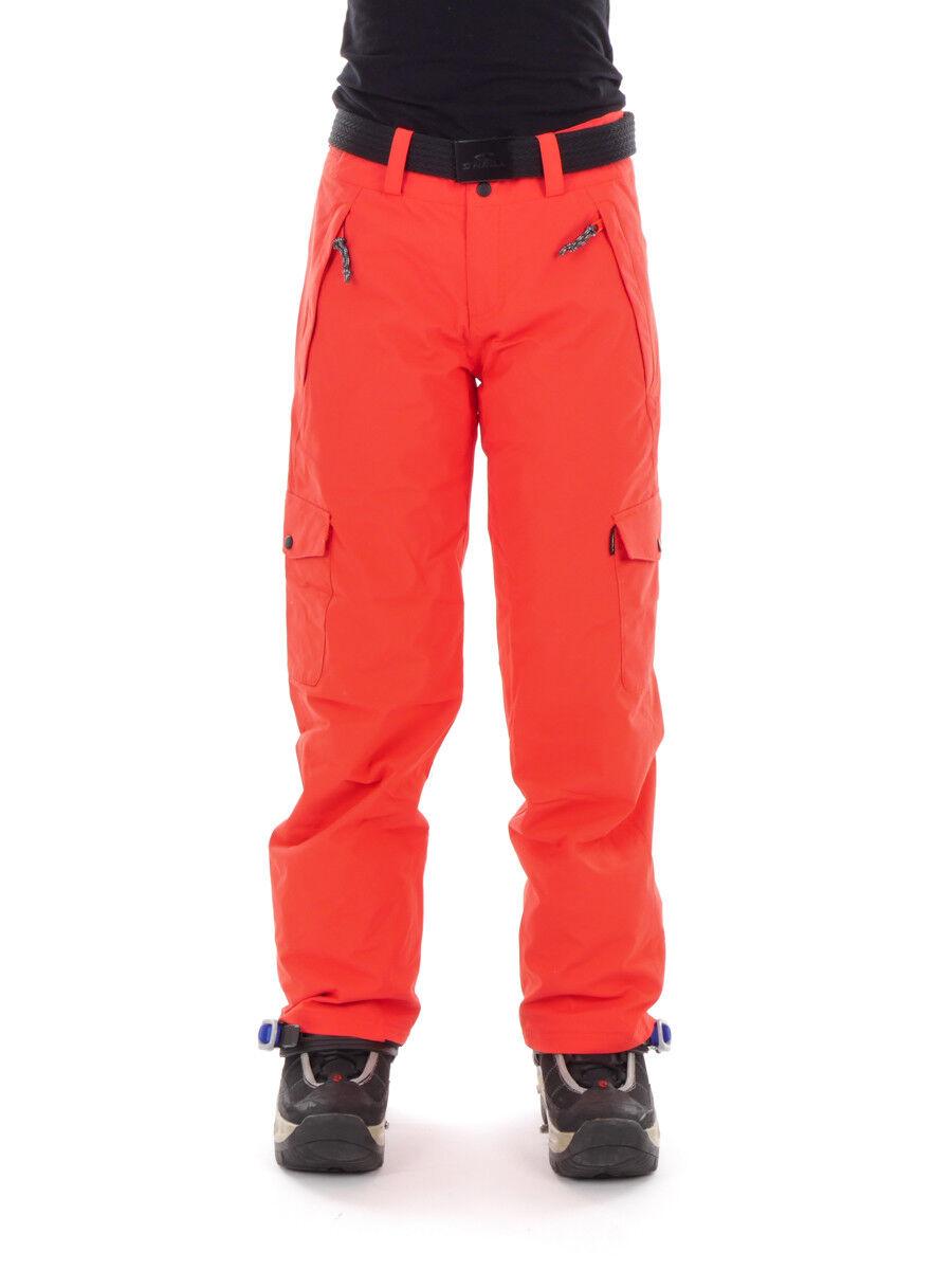 O'Neill Pantalon Ski Snowboard Chaude (S) Étoile rot Ceinture Imperméable