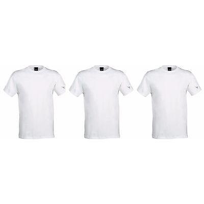 3 t-shirt uomo mezza manica puro cotone collo fruit DIADORA underwear art. 6066
