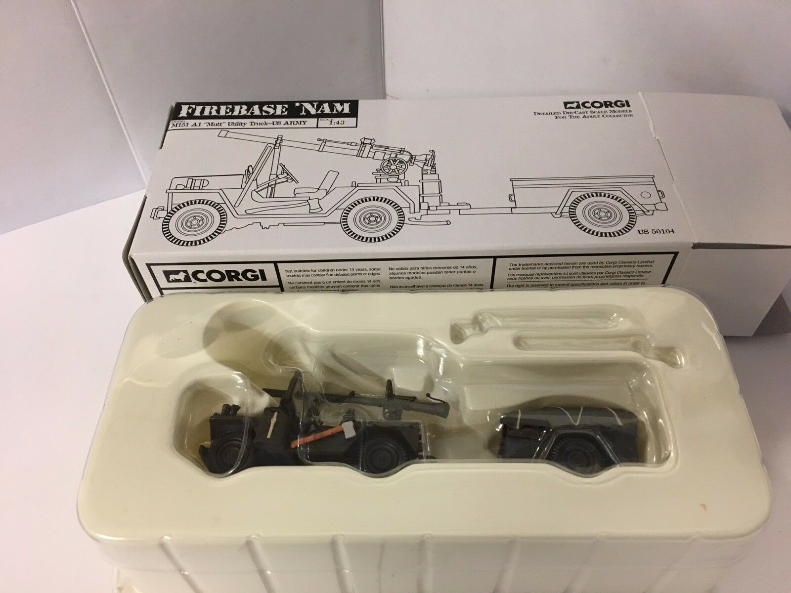 Corgi US50104 M151 M151 M151 A1 Mutt utilidad Camión-USMC 5c263d