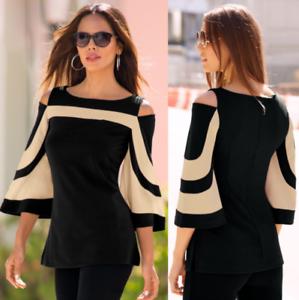 Womens-Long-Sleeve-Slim-Cotton-Blouse-Casual-Shirt-Summer-Tops-T-Shirt-Vest