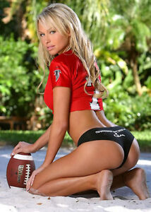 Atlanta Falcons Sexy Women Girl Female Football Fan Photo