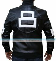 Men's Bomber 8 Ball Supreme Leather Jacket , All Size, All Size