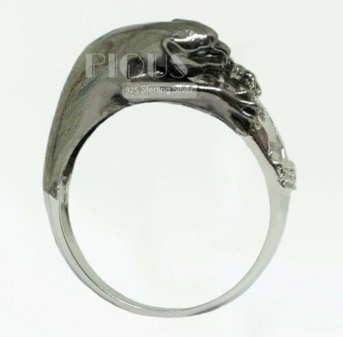 Unique Black Panther Pantera 925 Sterling Silver Men/'s Biker rider Ring