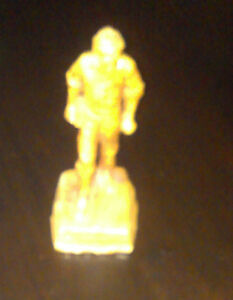 """VINTAGE 1950's YOUNG ABE LINCOLN FIGURINE L.A. FLECK SIGNED ARTIST """"WOOD"""" STATUE"""