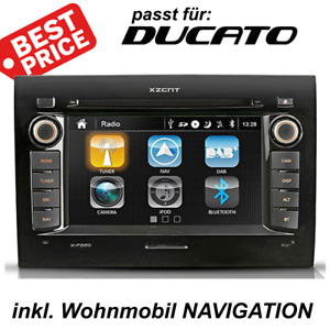 xzent x f220 ducato wohnmobil navigation radio dab usb. Black Bedroom Furniture Sets. Home Design Ideas