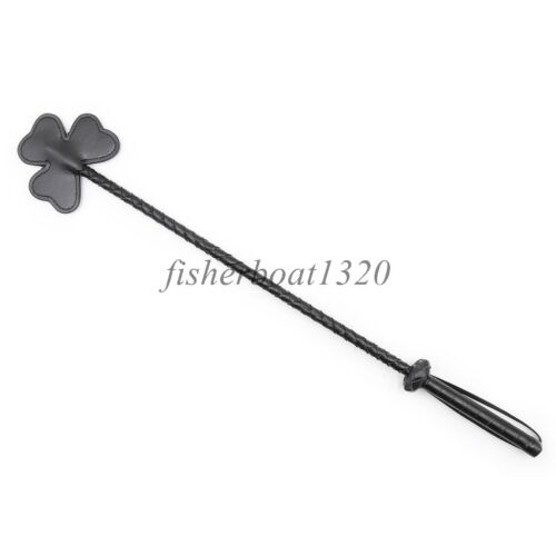 3-leaf Straight Whip Flogger Horse Kinky Riding Crop Roleplay Clover Toy Slave