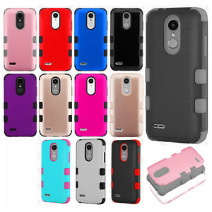buy online bcdaf 7c095 Details about For LG Fortune 2 IMPACT TUFF HYBRID Case Skin Phone Cover +  Screen Guard