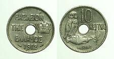 pcc1617_2) GRECIA. 10 lepta 1912