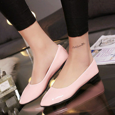 Hotsale Womens Candy Color Boat Shoes Casual Ballet Flats Loafers Single Shoes