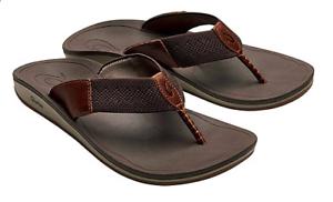 f79197d39b4 Olukai Nohona Ulana Dark Wood Comfort Flip Flop Sandal Men s sizes 8 ...