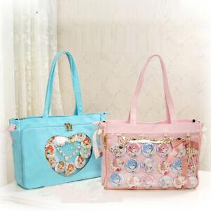 Lolita-giapponese-ragazza-tela-trasparente-itabag-a-tracolla-Messenger-Bag