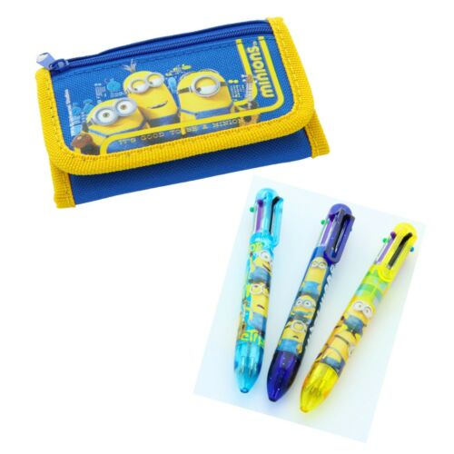 Minions Tri-Fold Wallet With Free Multi-Color Pen gift set party favors