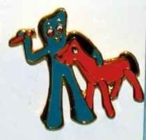 GUMBY /& POKEY Metal Enamel Pin VINTAGE 1985 ART CLOKEY SHER-STUFF Genuine 8265