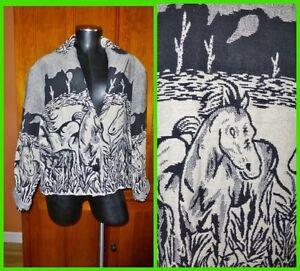 Horse Cotton Sz Vtg Xl Grunge Nyhed Jakke 90s South Coat 100 Western Vævet gq1wIRU
