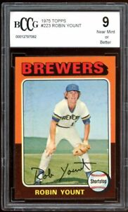 1975 Topps #223 Robin Yount Rookie Card BGS BCCG 9 Near Mint+