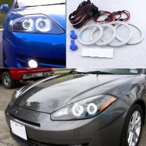 Details About Smd Led Angel Eye Halo Ring Retrofit Headlight For Hyundai Tiburon 2003 2006
