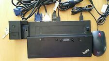Lenovo Thinkpad Pro Dock - 40A1 with keys, AC adapter, 3 Cables, Mouse