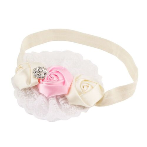 White Lace Toddler Rose Flower  Headband Rose Headband Flower Hair Accessories
