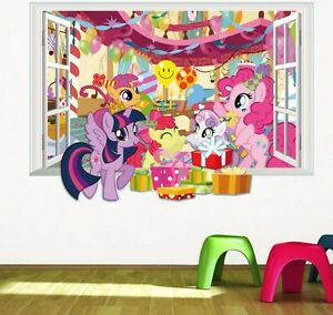 ... 3D Window View My Little Pony Wall Sticker  Part 63