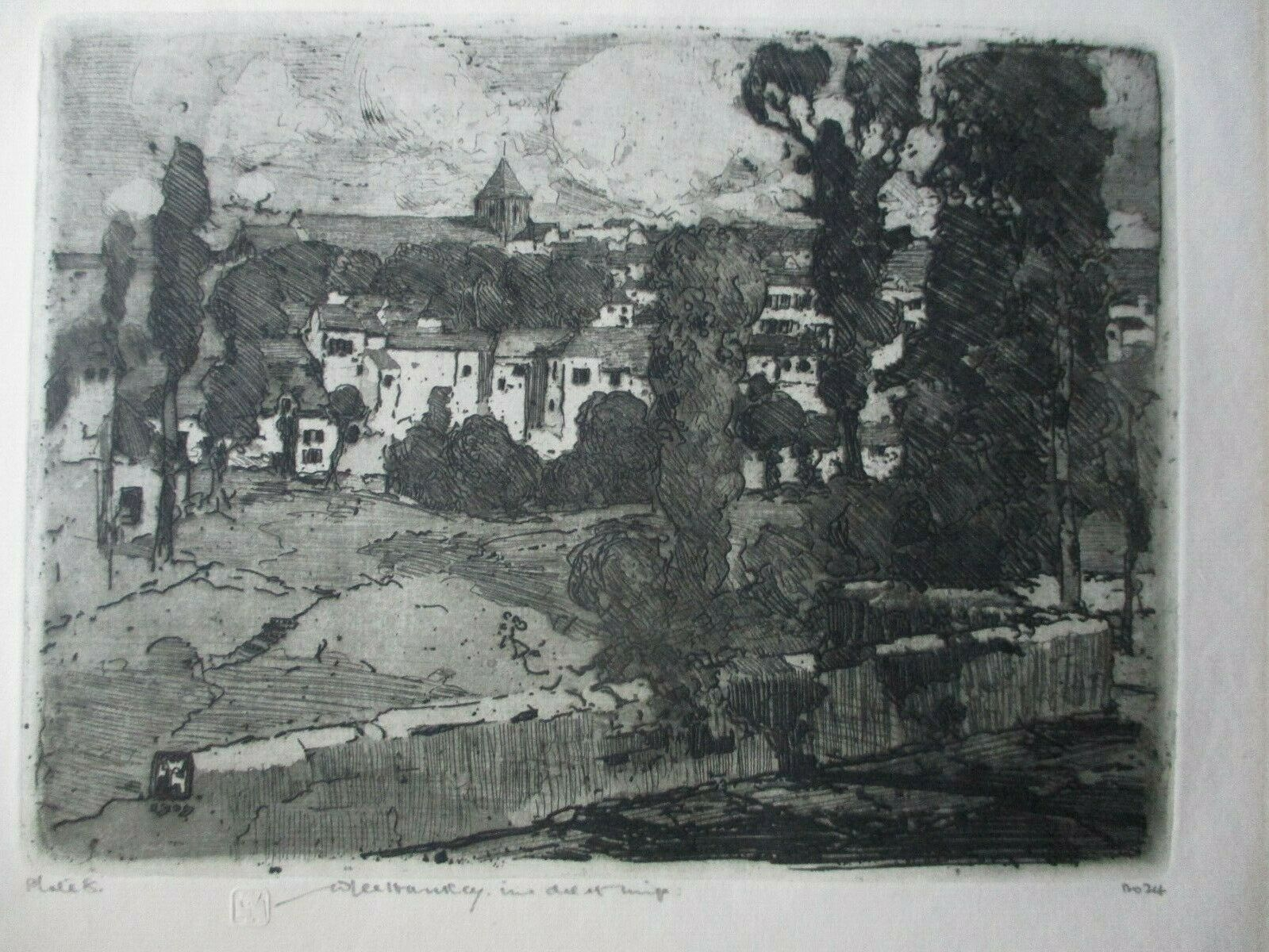 WILLIAM LEE HANKEY-Signed Drypoint Etching-Saint-Valley-Sur-Somme on eBay thumbnail