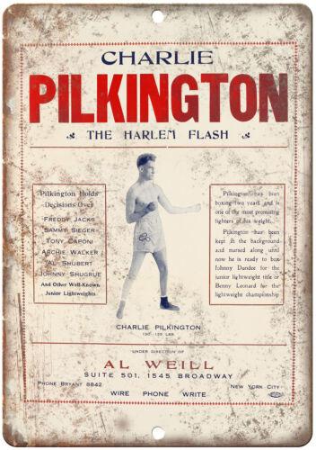 "Charlie Pilkington The Harlem Flash Boxing 10/"" X 7/"" Reproduction Metal Sign I143"