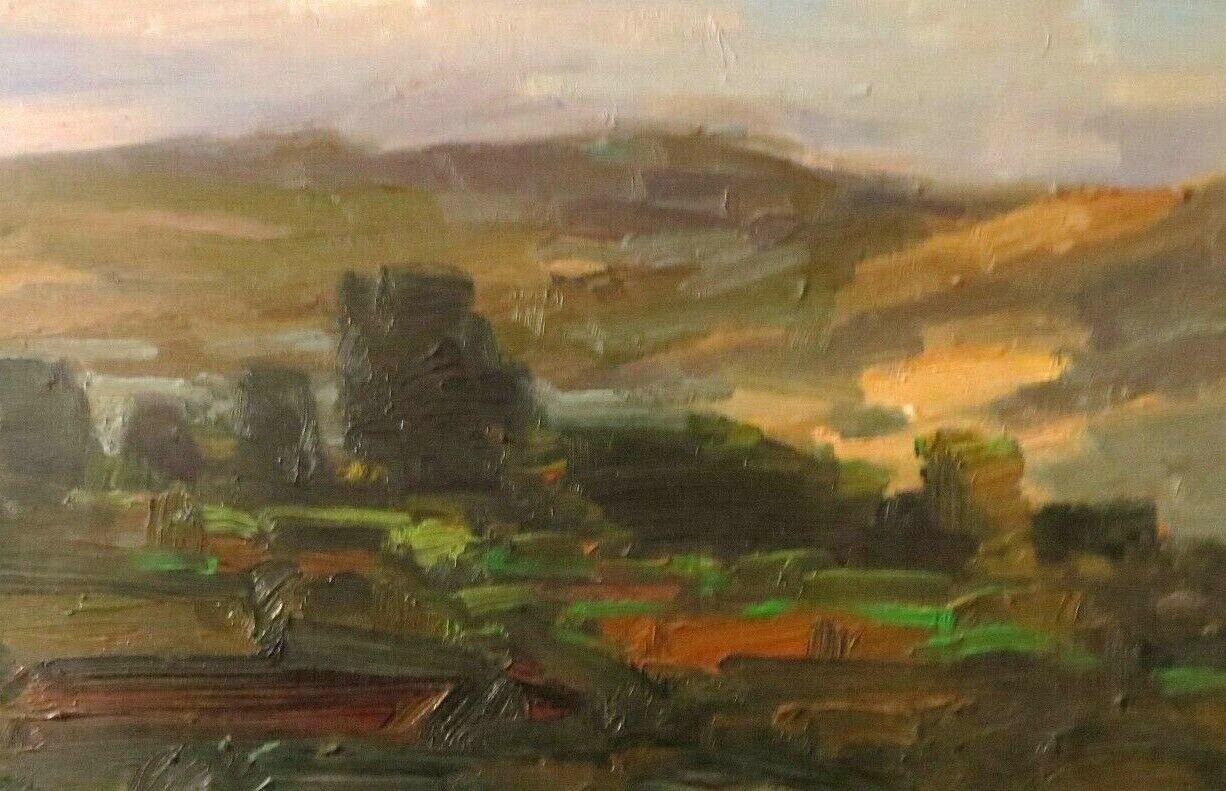 HEDGEPETH original oil painting Impressionism (First Light ) Landscape N/R 8