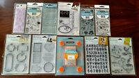Fiskars Stamp Press & Lot Of 11 Sets Clear Unmounted Stamps