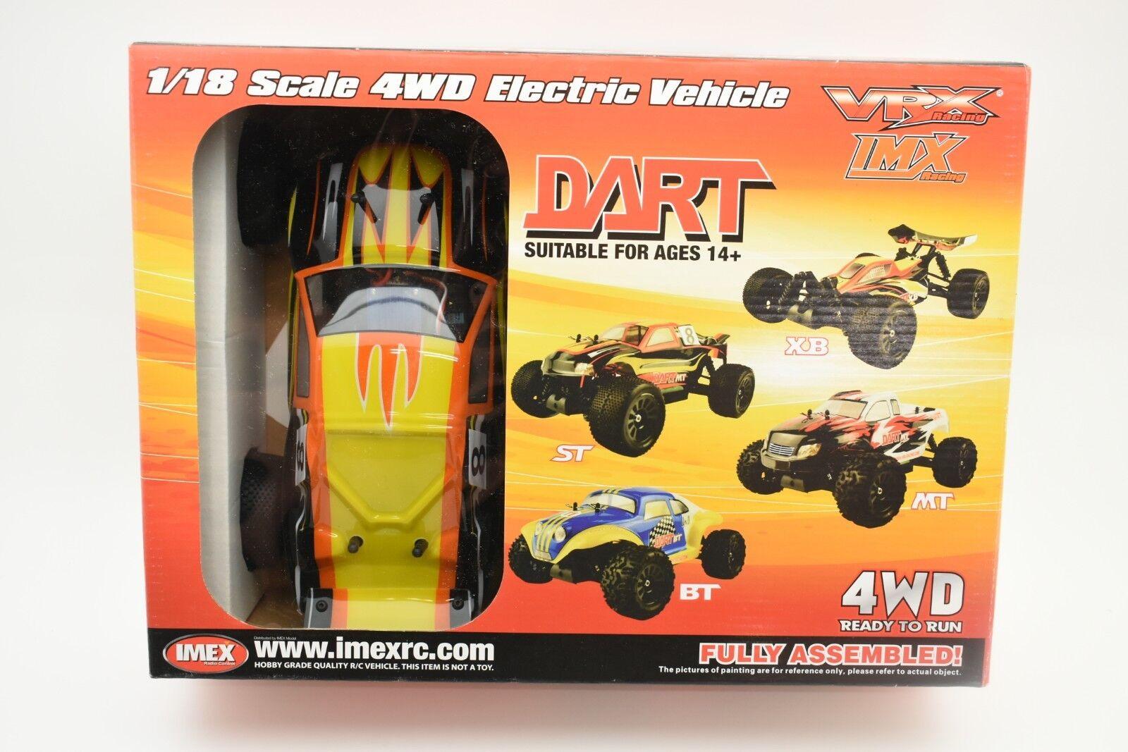 VRX18822-MT Color-amarillo Dardo Mt sin Escobillas 1 18 Escala 4wd Eléctrico