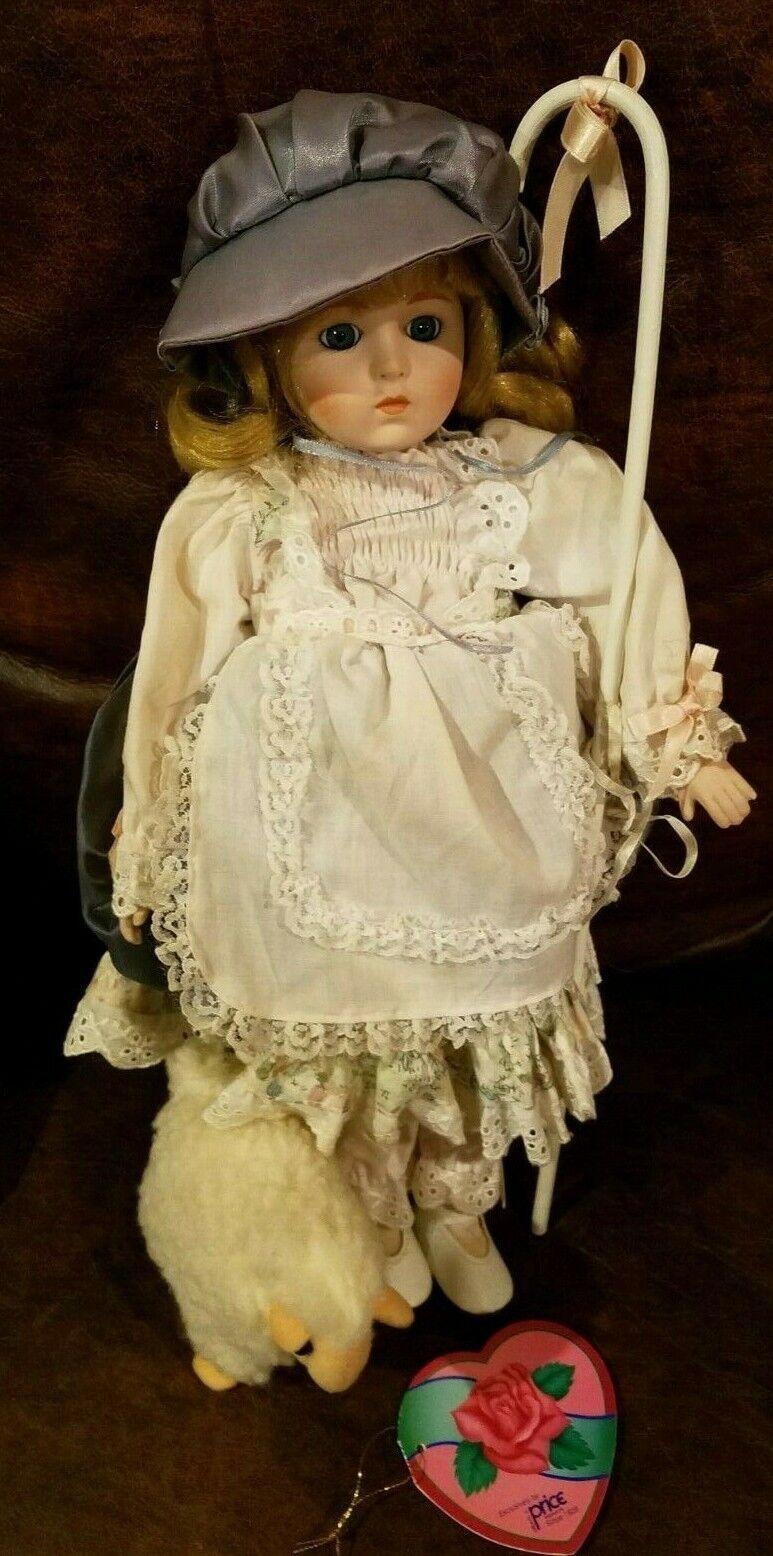 Little Bo Peep Muñeca Hello Dolly Caja de porcelana con personal y Cordero 15