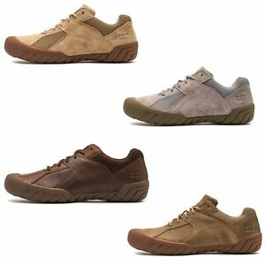 Caterpillar-CAT-Haycox-Shoes-Leather-Casual-Trainers-in-Brown-Taupe-amp-Grey